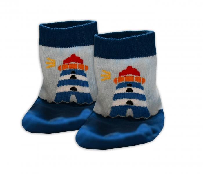 Baby Nellys Bavlněné ponožky Maják
