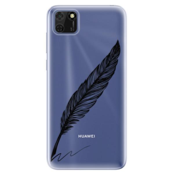 Odolné silikonové pouzdro iSaprio - Writing By Feather - black - Huawei Y5p