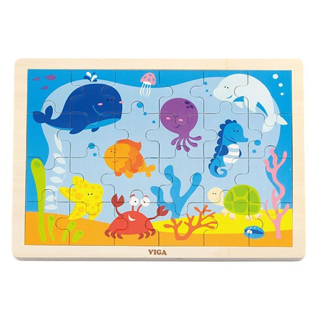 Dětské dřevěné puzzle Viga Oceán - multicolor