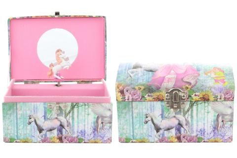 Hrací skříňka šperkovnice s koníkem
