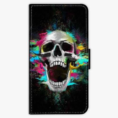 Flipové pouzdro iSaprio - Skull in Colors - Lenovo Moto G5