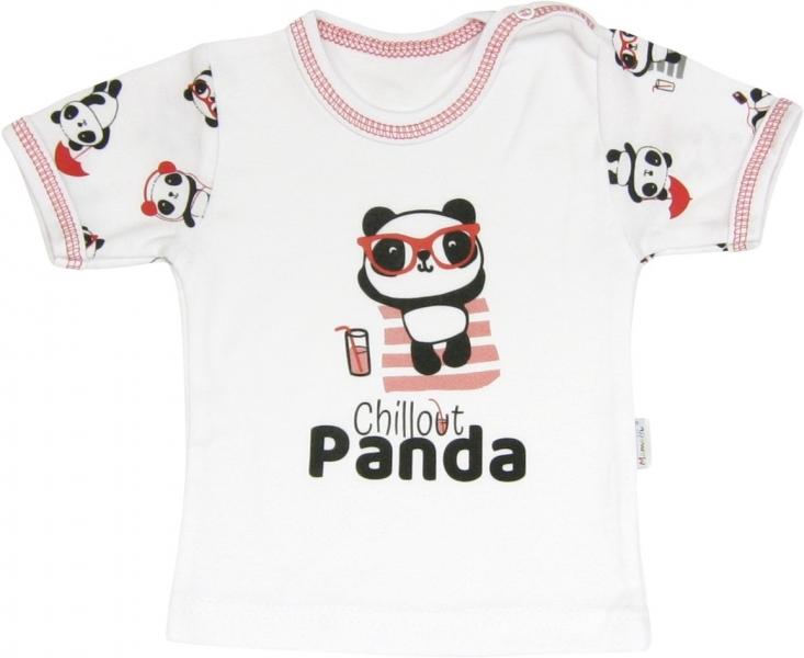 Bavlněné tričko Panda - krátký rukáv, roz.