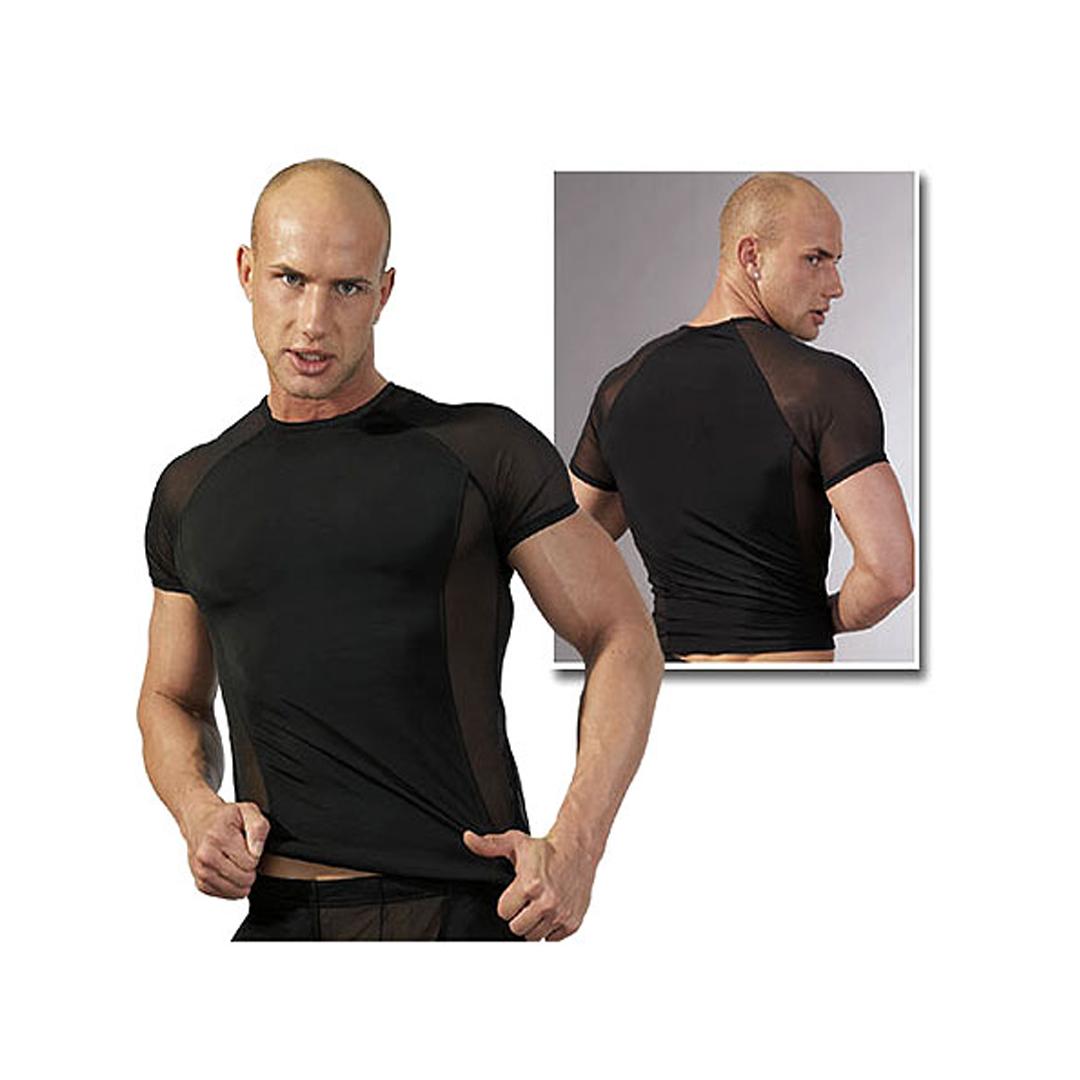 Pánské černé triko s raglánovým rukávem (S, M, L, XL)