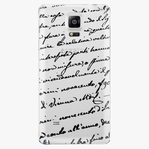 Plastový kryt iSaprio - Handwriting 01 - black - Samsung Galaxy Note 4