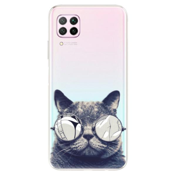 Odolné silikonové pouzdro iSaprio - Crazy Cat 01 - Huawei P40 Lite