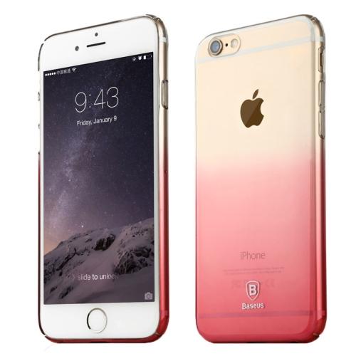 Pevný kryt Baseus Gradient pro iPhone 6 Plus / 6S Plus růžový