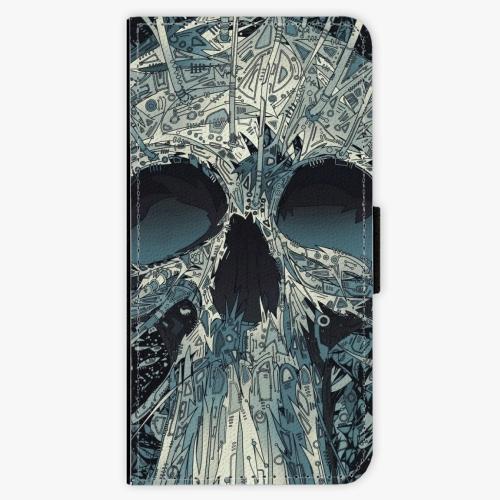 Flipové pouzdro iSaprio - Abstract Skull - iPhone 5/5S/SE