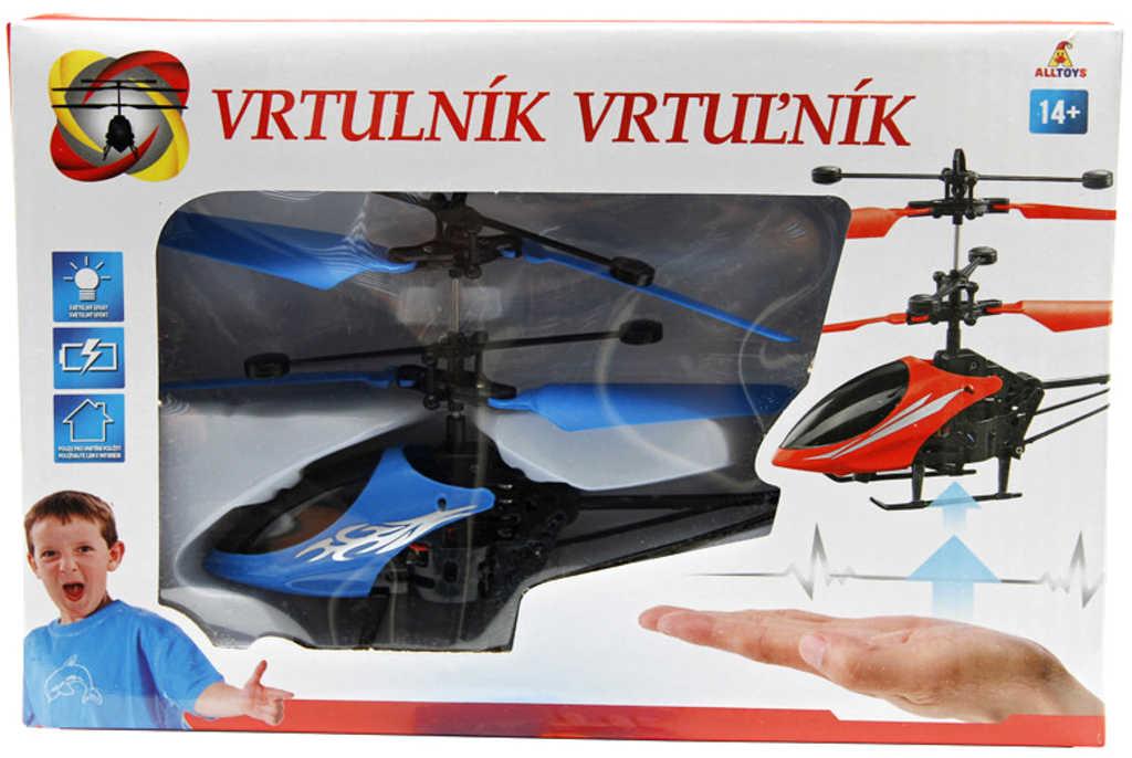 Helikoptéra reaguje na pohyb ruky na baterie USB kabel LED Světlo 3 barvy