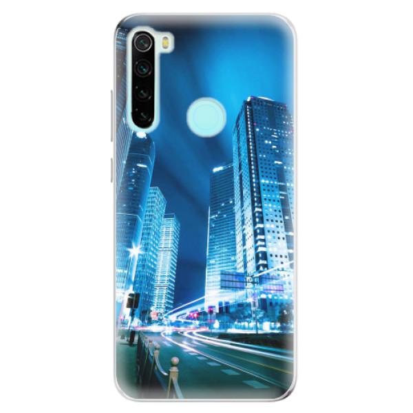 Odolné silikonové pouzdro iSaprio - Night City Blue - Xiaomi Redmi Note 8