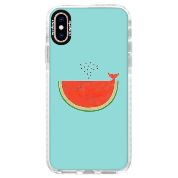 Silikonové pouzdro Bumper iSaprio - Melon - iPhone XS
