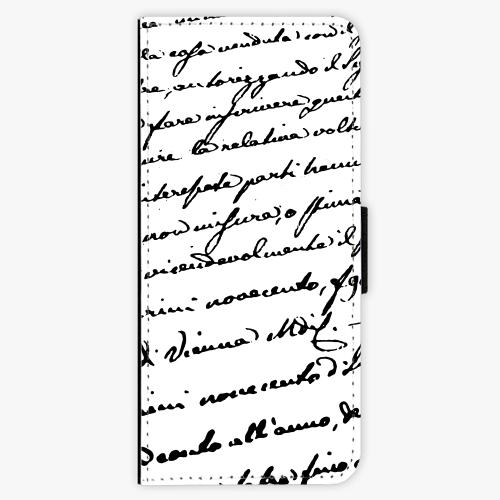 Flipové pouzdro iSaprio - Handwriting 01 - black - Samsung Galaxy J3 2016