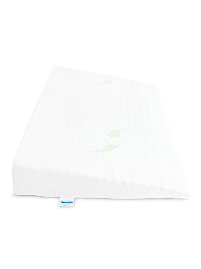Kojenecký polštář - klín Sensillo Luxe s aloe vera 60x38 cm - bílá