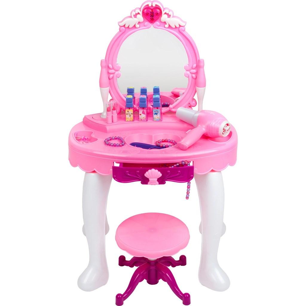 Dětský kosmetický stolek Bayo + příslušenství - růžová