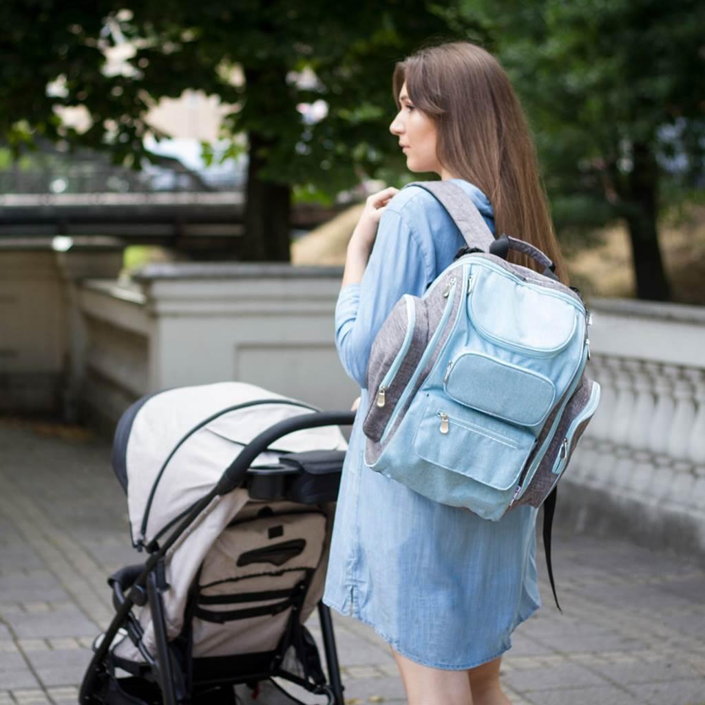 Přebalovací batoh pro maminky TAKE & GO Akuku - modrá