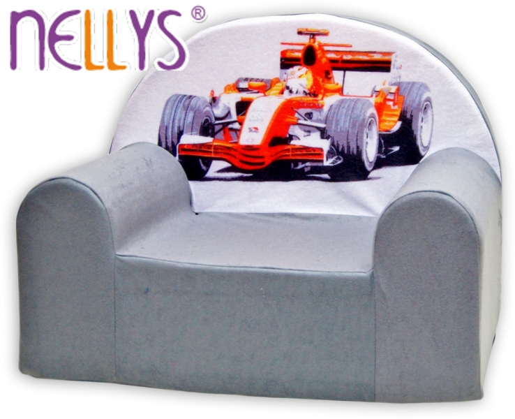 Dětské křesílko/pohovečka Nellys ® - Formule v šedé