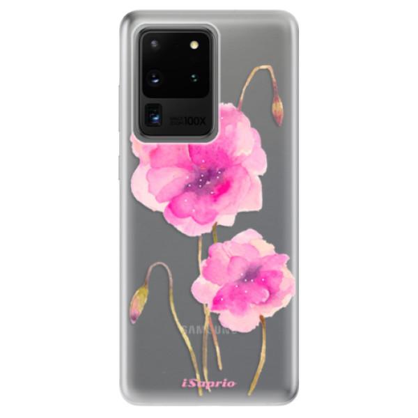 Odolné silikonové pouzdro iSaprio - Poppies 02 - Samsung Galaxy S20 Ultra
