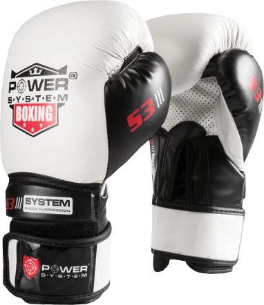Boxerské rukavice bílé PS-5002-10-oz