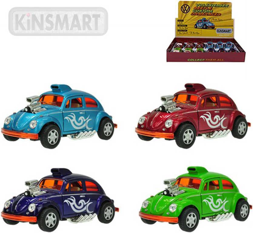 KINSMART Volkswagen Beetle Custom model 1:32 kov 12 cm zpětný chod - 4 barvy