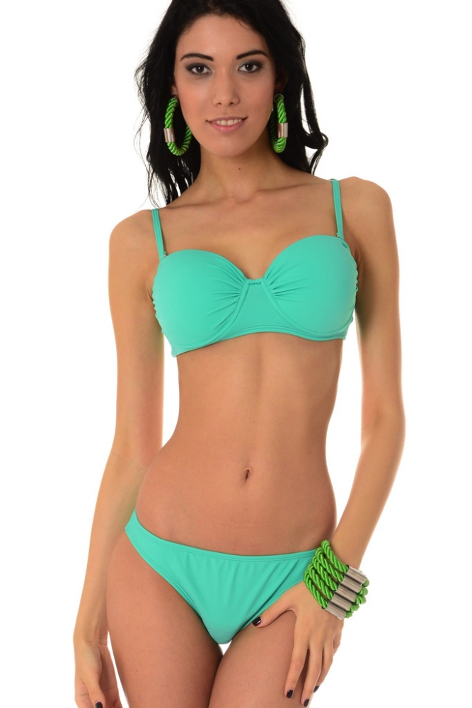 Dvoudílné plavky Luisa zelené - zelená - zelená empty 6cc4cc3693