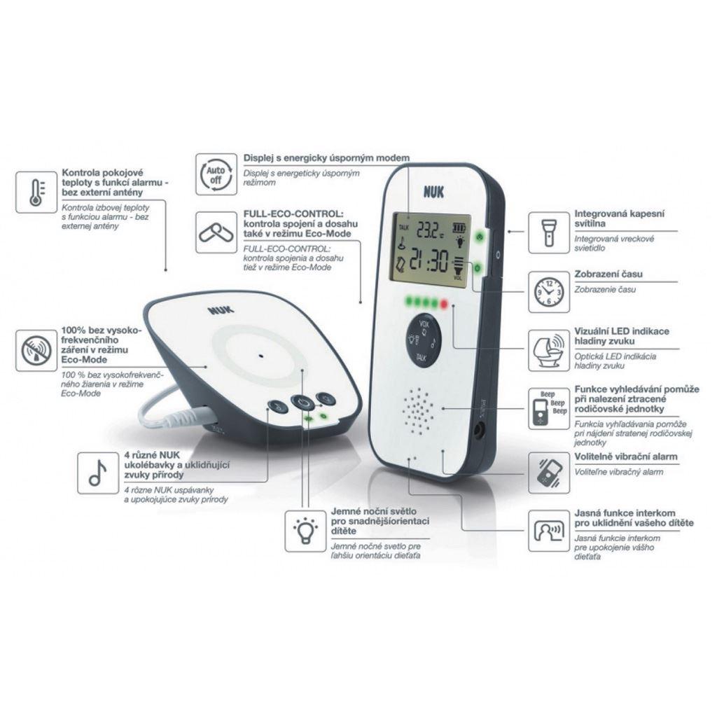 Digitální chůvička NUK Eco Control Audio Display 530D+ - bílá