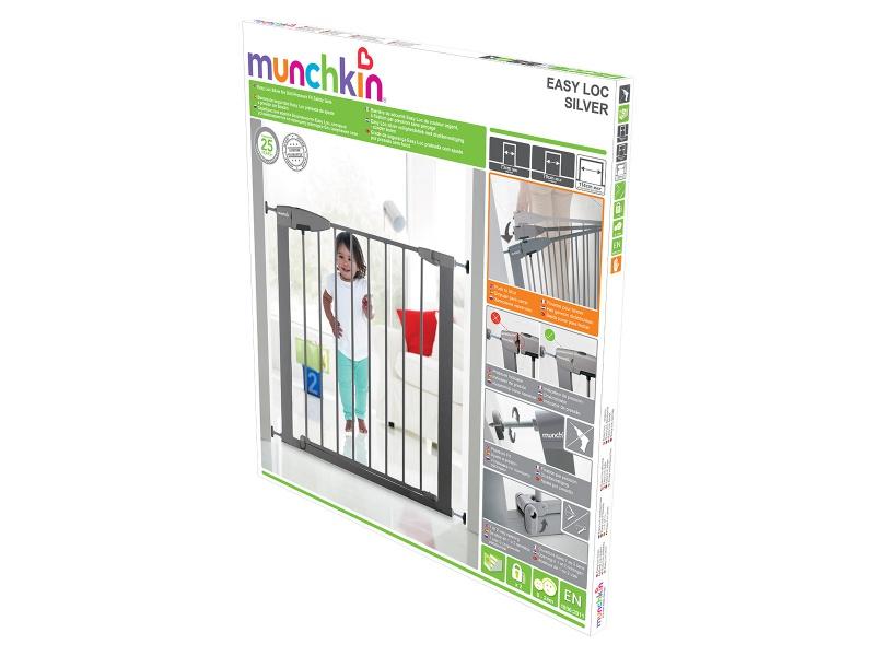 Munchkin - Dětská zábrana Easy Loc stříbrná