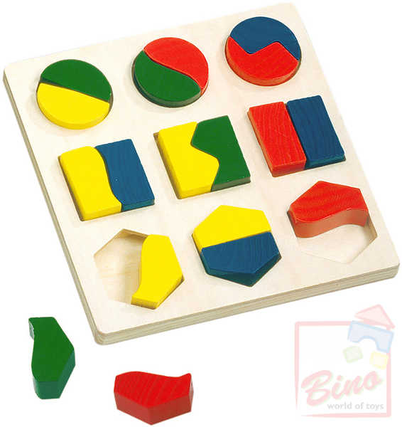 BINO DŘEVO Puzzle Geometrické tvary * DŘEVĚNÉ HRAČKY *