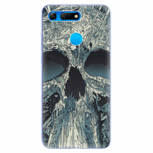 Silikonové pouzdro iSaprio - Abstract Skull - Huawei Honor View 20