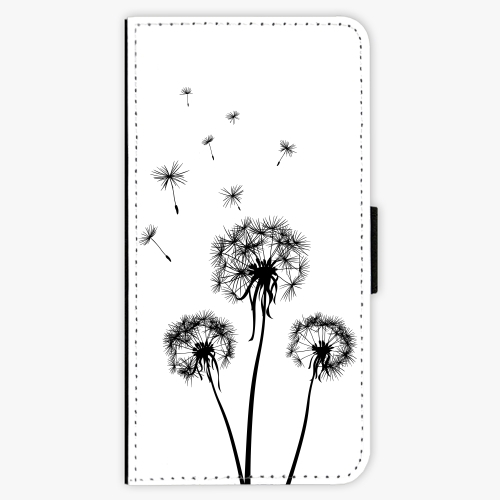 Flipové pouzdro iSaprio - Three Dandelions - black - Samsung Galaxy A8 Plus