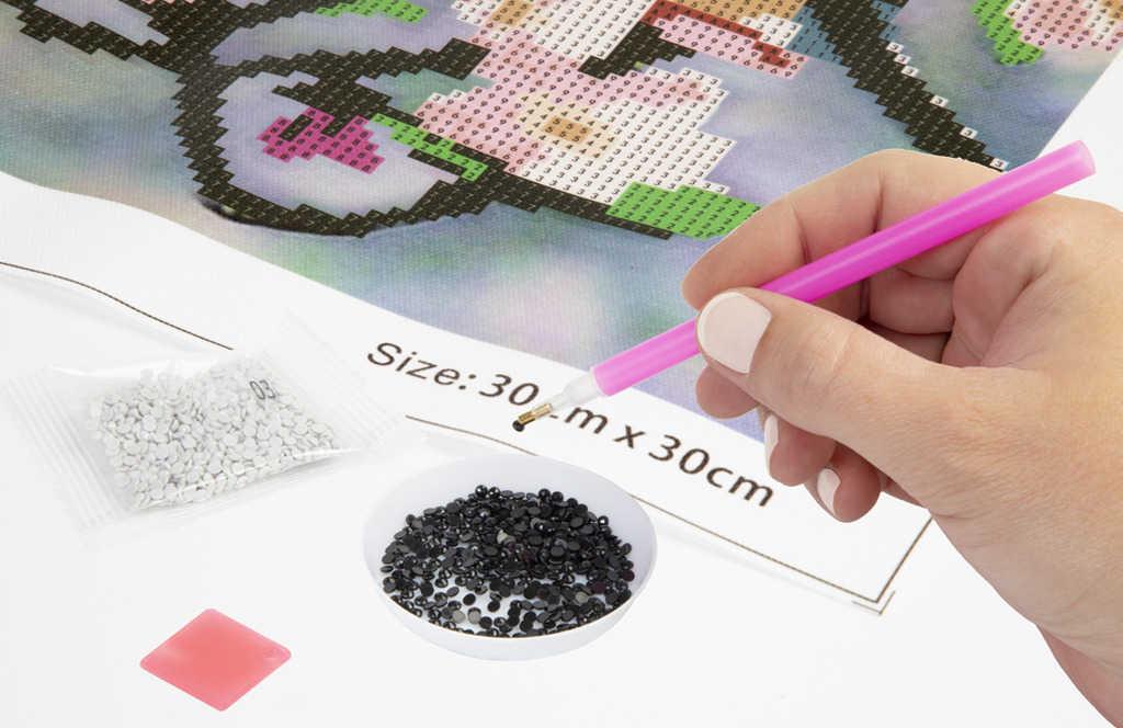 Diamond mozaika pejsek 50x40cm malování s kamínky kreativní set v krabici