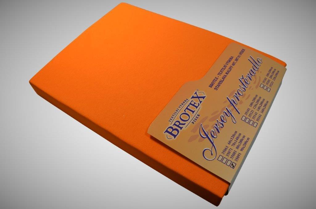 Jersey prostěradlo oranžové, Výběr rozměru