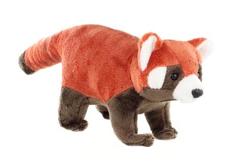 Plyš Panda červená