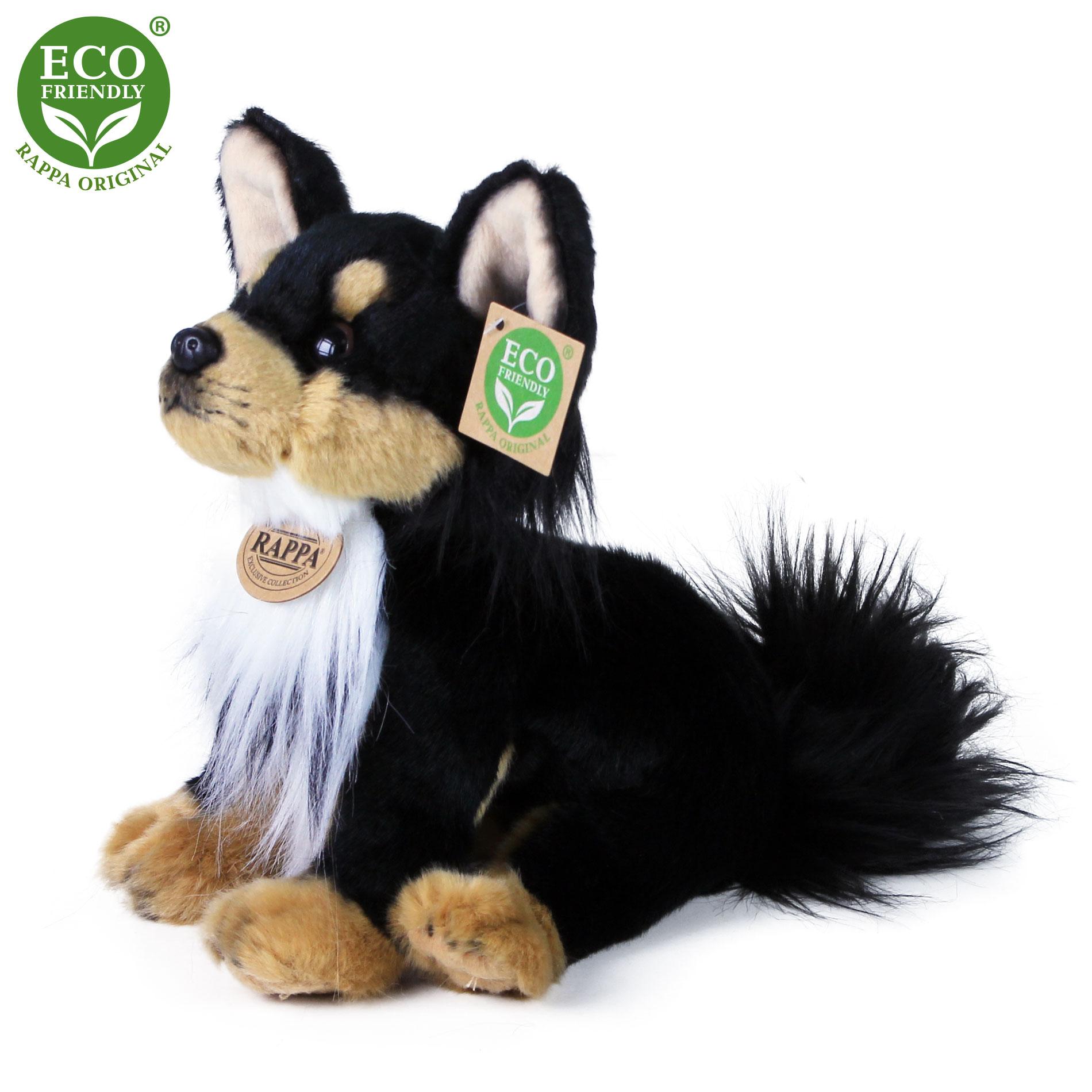 Plyšový pes čivava sedící 24 cm ECO-FRIENDLY