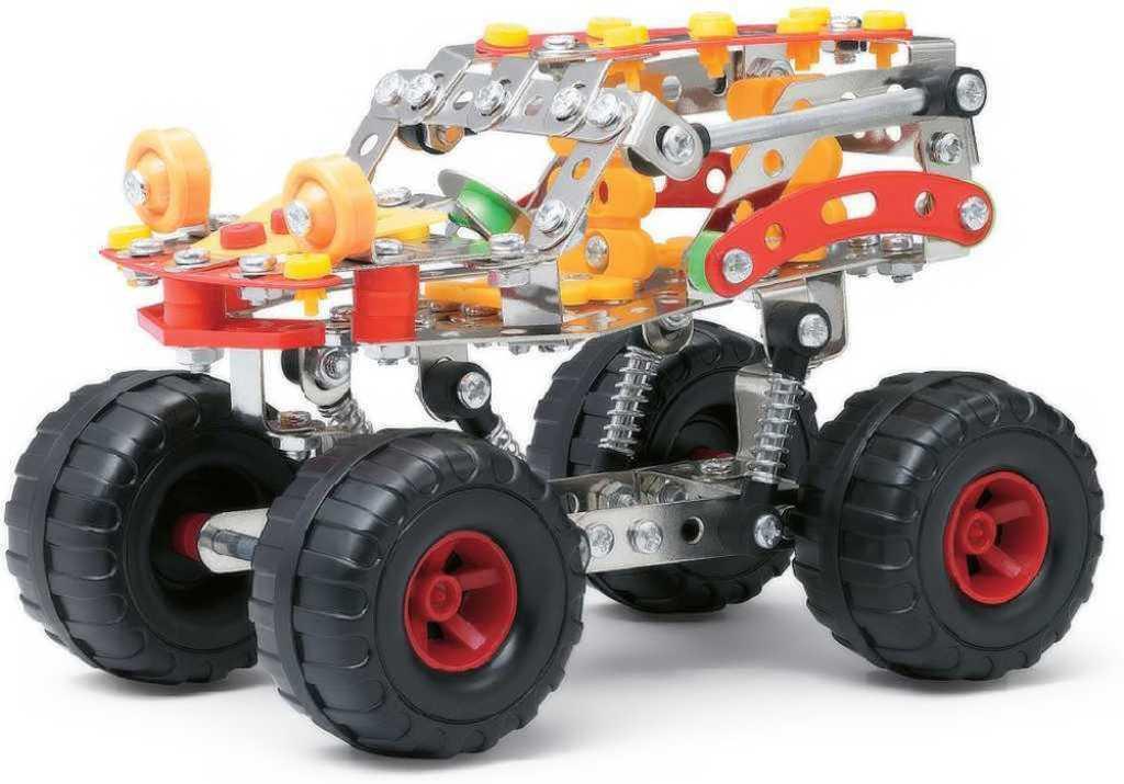 Malý mechanik Auto SUV terénní velká kola 272 dílků Stavebnice typu Merkur