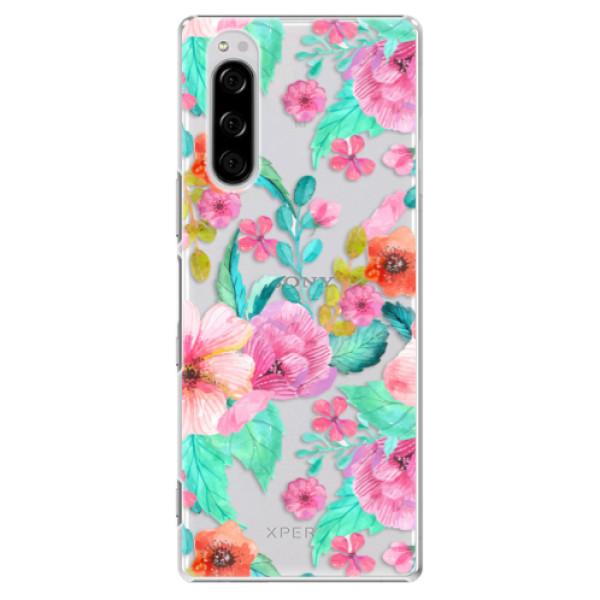 Plastové pouzdro iSaprio - Flower Pattern 01 - Sony Xperia 5