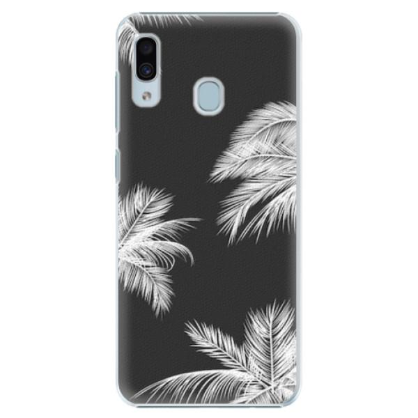 Plastové pouzdro iSaprio - White Palm - Samsung Galaxy A20