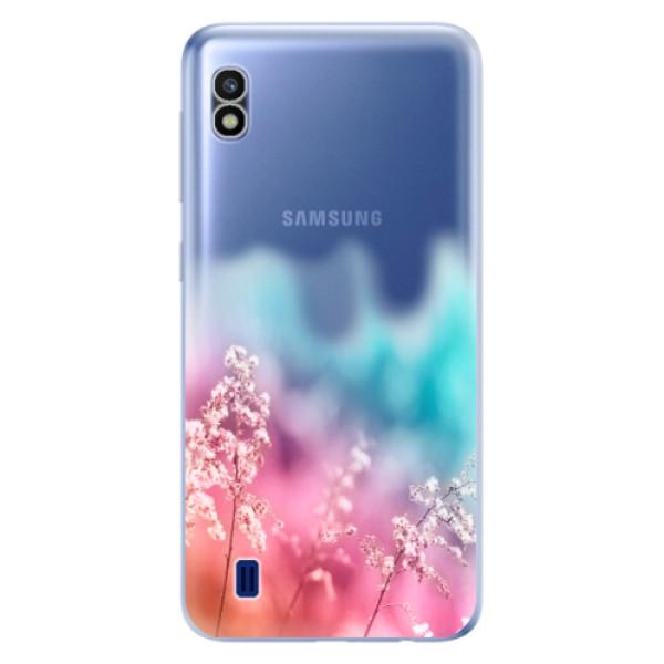 Odolné silikonové pouzdro iSaprio - Rainbow Grass - Samsung Galaxy A10