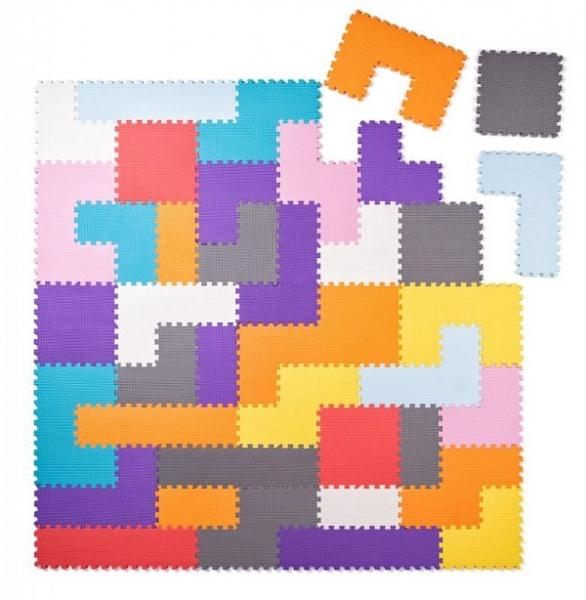 Plastica Pěnové podlahové puzzle - Tvary - 40 ks