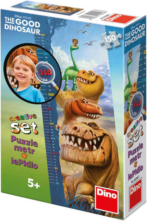 DINO Puzzle Hodný dinosaurus 150 dílků dětský metr Disney v krabici