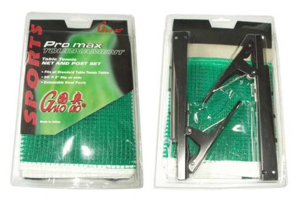 ACRA Sada rychloupínací na stolní tenis držák + síťka zelená