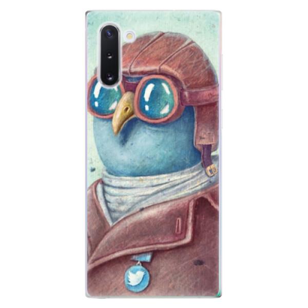 Odolné silikonové pouzdro iSaprio - Pilot twitter - Samsung Galaxy Note 10