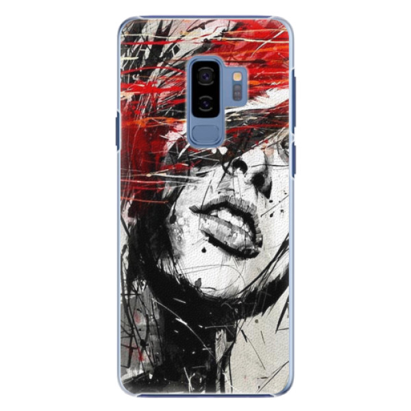 Plastové pouzdro iSaprio - Sketch Face - Samsung Galaxy S9 Plus