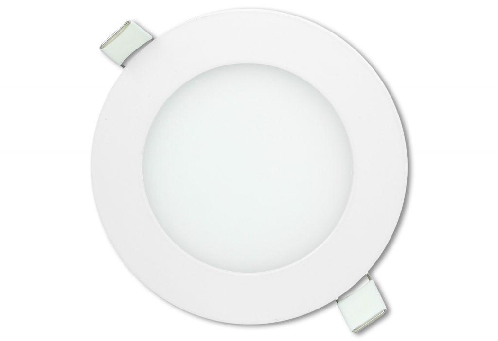 LED stropní panel kulatý 6 W, studená bílá