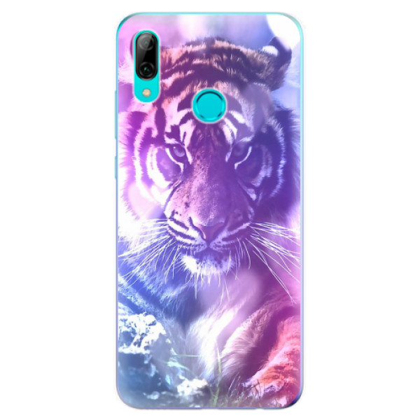 Odolné silikonové pouzdro iSaprio - Purple Tiger - Huawei P Smart 2019