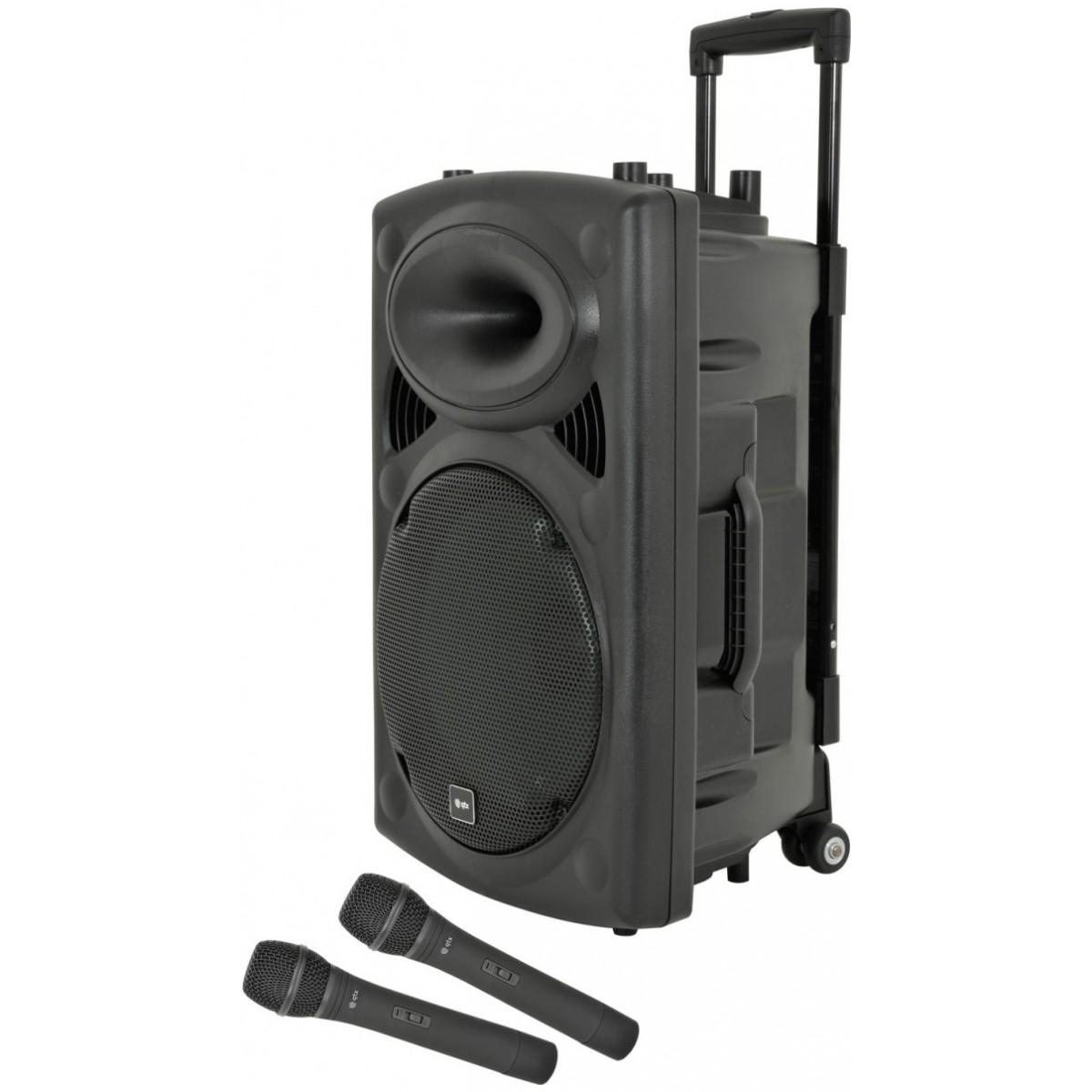 """QTX QR-12, mobilní 12"""" zvukový systém MP3/2x VHF, Bluetooth"""