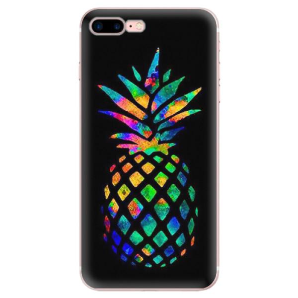 Odolné silikonové pouzdro iSaprio - Rainbow Pineapple - iPhone 7 Plus