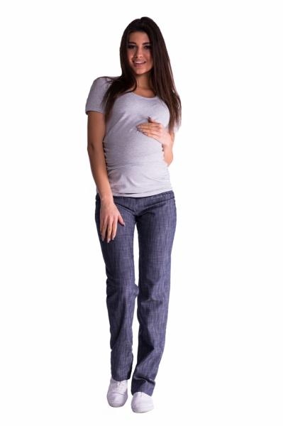 Be MaaMaa Bavlněné, těhotenské kalhoty s regulovatelným pásem