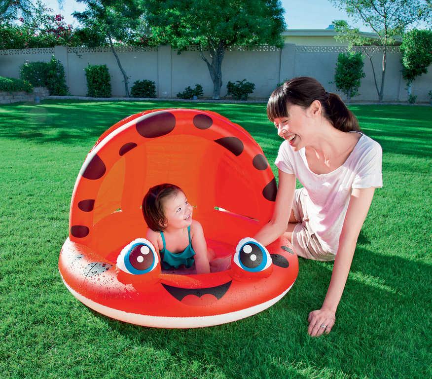 BESTWAY Bazének dětský kulatý se stříškou 97x66cm zvířátko 2 druhy