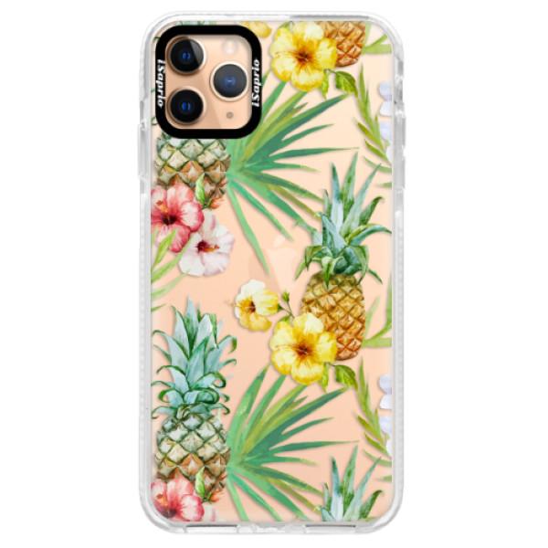 Silikonové pouzdro Bumper iSaprio - Pineapple Pattern 02 - iPhone 11 Pro Max