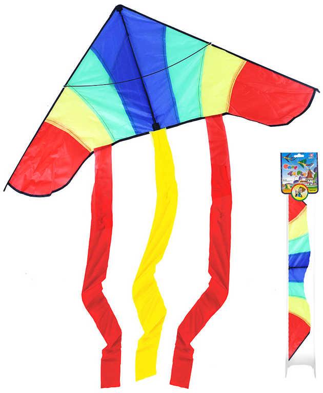 Drak létající nylonový 120x153cm s vodicí šňůrou plast v sáčku