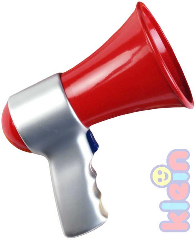 KLEIN Dětský funkční megafon na baterie hasičský plast